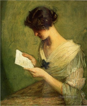 Julian Alden Weir Painting - The Letter Julian Alden Weir